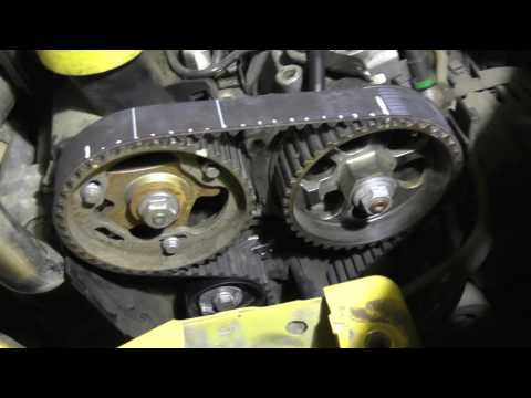 Renault Kangoo 1.5dCi  Замена ремня ГРМ . Двигатель Renault K9K 1.5 dci .