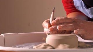 Pot Clay Decorative Art Skill Workshop | Stock Footage - Videohive