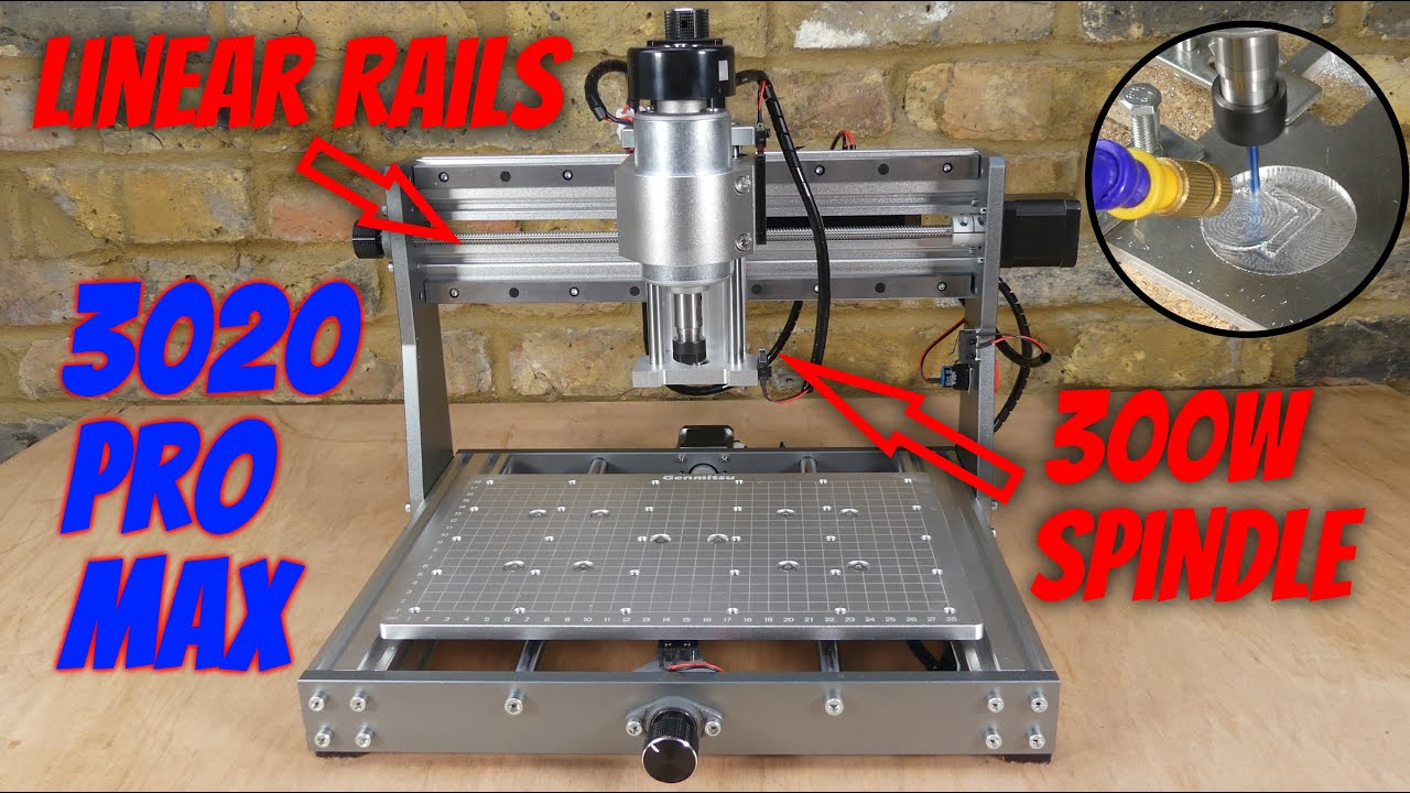 Download 3018 Cnc with 300W Spindle & Linear Rails - Sainsmart Genmitsu 3020 Pro Max Build, Test & Review