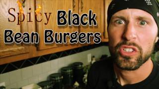 Black Bean Veggie Burgers - Cooking With The Vegan Zombie