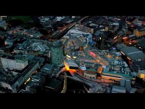 Birmingham 4K Aerial footage. England, United Kingdom