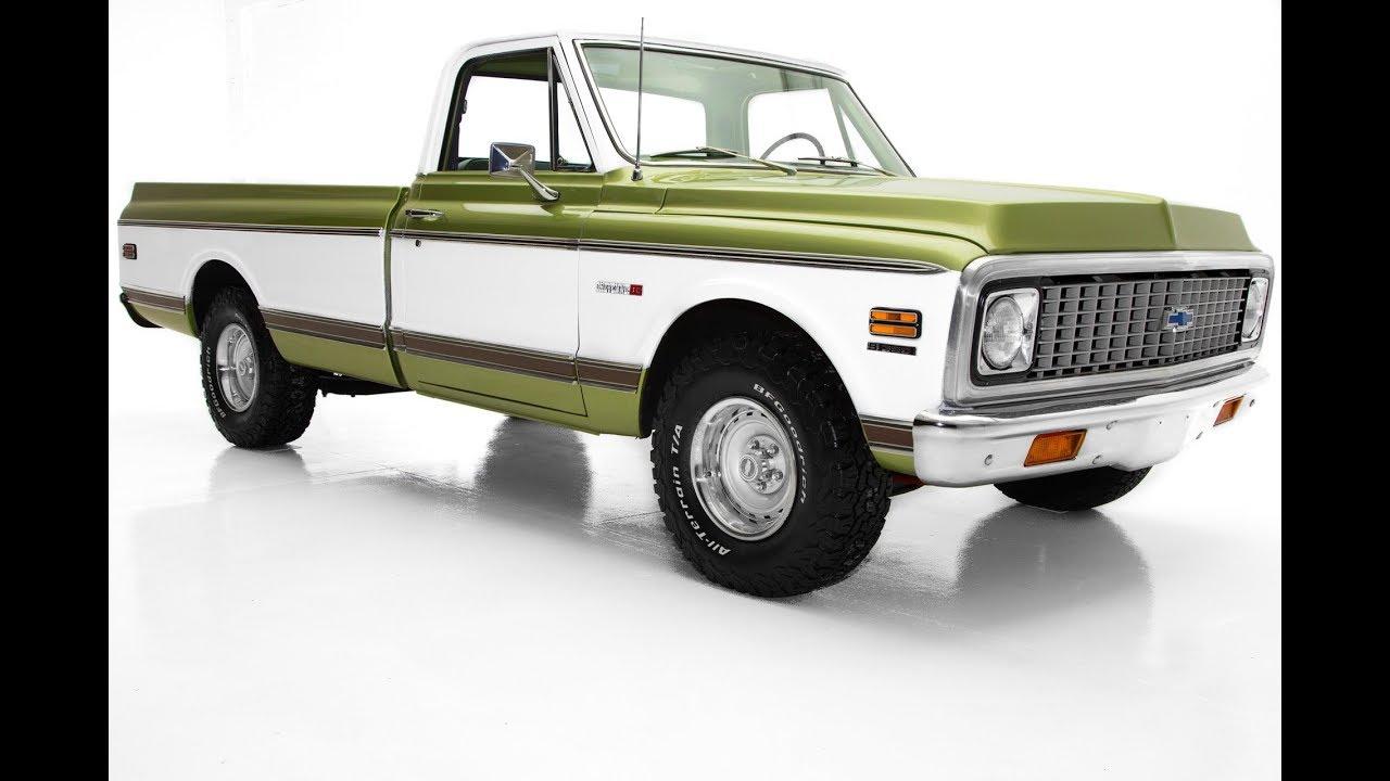 1972 Chevrolet Pickup Cheyenne C10 Frame-Off AC - YouTube