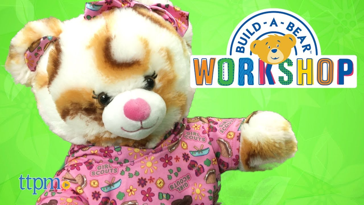 b6bdbb59032 Build-A-Bear Girl Scout S mores Campout Bear from Build-A-Bear Workshop
