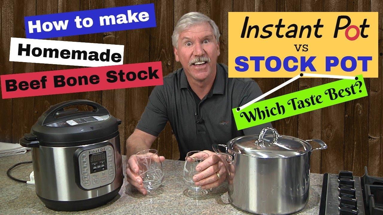 Beef Stock - Instant Pot vs Stock Pot