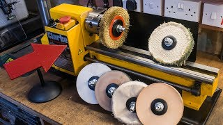 Making lathe mounted buffing wheels and polishing mops
