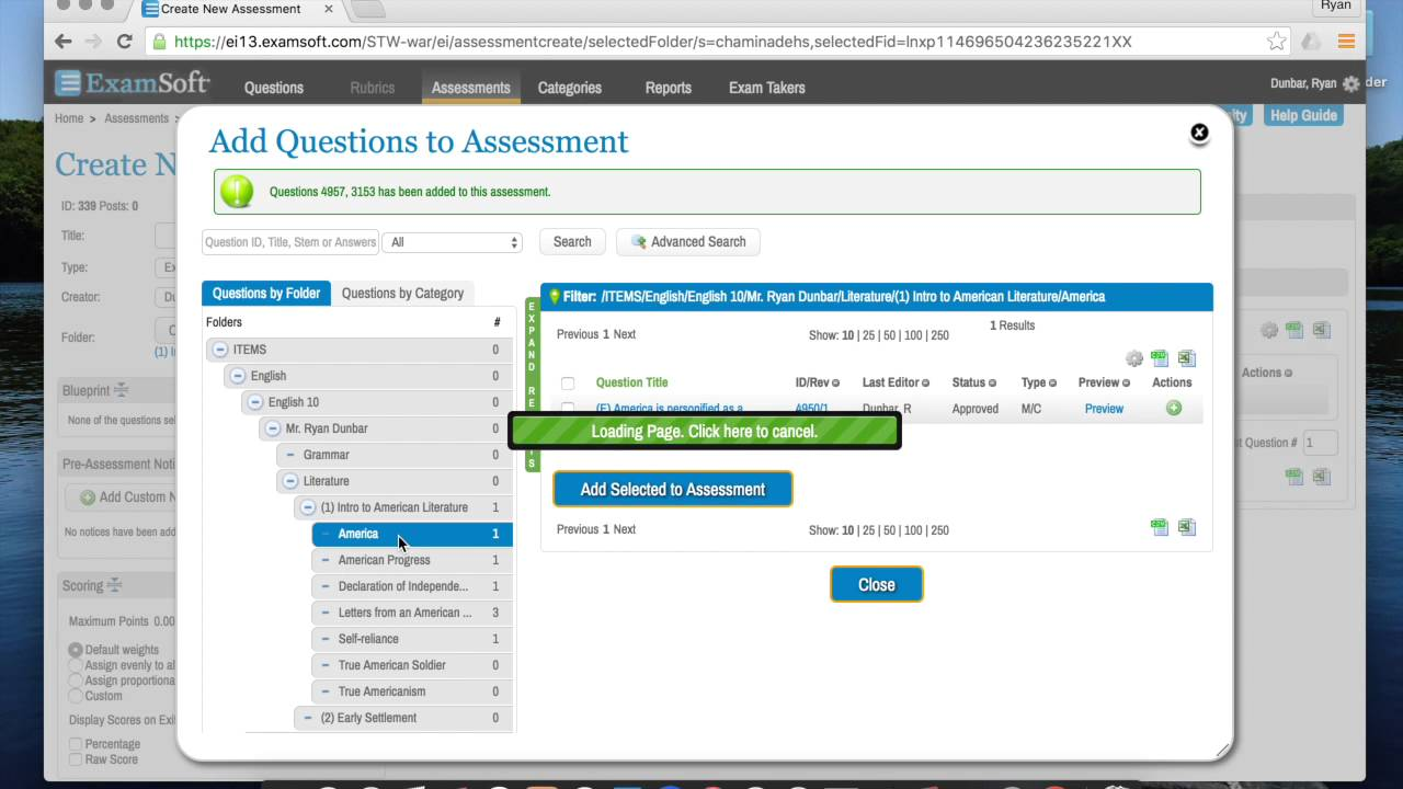Creating Assessments in ExamSoft