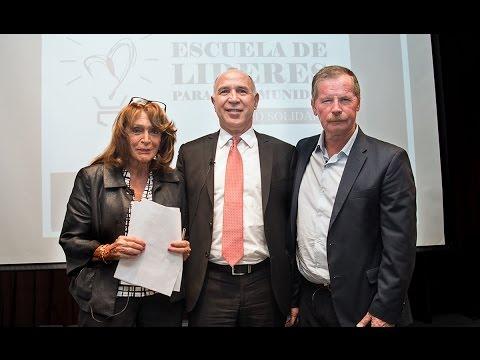 Lorenzetti participo del ciclo Escuela de Lideres para la Comunidad, organizado por Red Solidaria