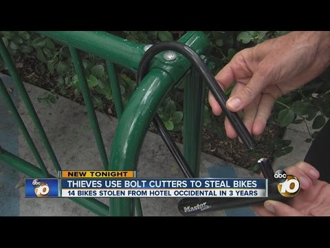 Thieves use bolt cutters to steal bikes