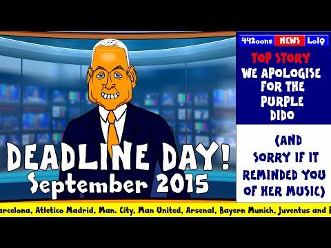 DEADLINE DAY 2015 - cartoon! (FUNNY Sky Sports Jim White Parody Man Utd Liverpool Chelsea )
