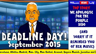 📠DEADLINE DAY 2015 - cartoon!📠 (FUNNY Sky Sports Jim White Parody Man Utd Liverpool Chelsea )