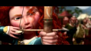 BRAVE- Merida shoots for her own hand scene.