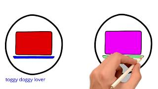 learn color and drawing by draw kid laptop | how to draw a kid laptop|