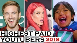 Top 10 Highest Paid Youtubers 2018 - The G Word