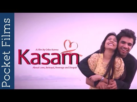 Kasam (Swear) - Short Film On Unfaithfulness | #pocketfilms: A short film about love, betrayal, revenge and despair. Two lovers promise each other that they will live and die together, but everything turns dark once he discovers that she is not holding on to her side of the promise. Some years later, when they meet, everything has changed and yet, he cannot let go.  Subscribe to our channels for a new short film every day - http://goo.gl/lPLIY  Click Here to Watch New Releases - http://bit.ly/newreleasesfilms    Visit www.pocketfilms.in to know more about us and our activities including films, #contests, updates, etc.  Cast & Crew: Director: Osho Kamra Music / Sound: Gurashish Singh Editor: Osho Kamra Cinematographer: Karan Asnani Actors: Osho Kamra, Apala Bisht, Rajdeep Bhan, Umesh Yadav   For Latest Updates Follow Us on Social Platforms  Follow Us on ►►►►►►►  Twitter - http://twitter.com/pocketfilmsin  FB - https://www.facebook.com/PocketFilmsIn  G+ - https://plus.google.com/+PocketFilms  Instagram - http://instagram.com/pocketfilmsin  Pocket Films' Network Channels  ►►►►►►►  Dekh Bhai Dekh - http://bit.ly/dekhbhaidekh  Little Kids Channel - http://bit.ly/Littlekidschannel   Are you a film maker? Want to showcase your film / documentary and also generate income? Contact us at -  info@pocketfilms.in