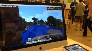 Minecraft in apple store