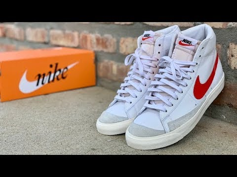 "1a9754f07d854 Nike Blazer Mid 77 Vintage ""Habanero Red"" review - YouTube"