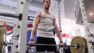 Дмитрий Ковка. Тренировка спины. Становая тяга 125 кг.