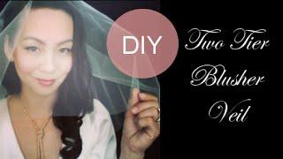 DIY Wedding Veil : Wedding Veil with a Blusher - 3 Styles {Full, Drop, Separate Blusher & Train}