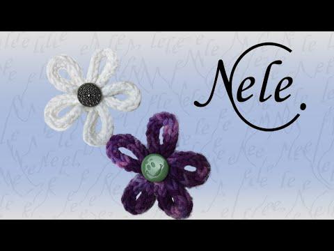 Anleitung für gestrickte Kordel, Blume stricken, DIY by NeleC.