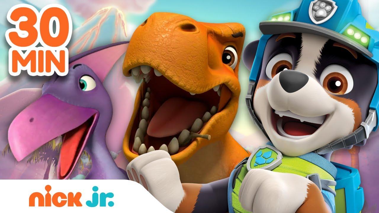 Download PAW Patrol Dino Rescue 30 MINUTE MARATHON! | Nick Jr.