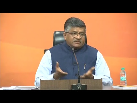 Shri Ravi Shankar Prasad's press conference at BJP HQ, New Delhi : 21.11.2017