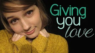 ASMR Giving You Love | Face Touching | Hair Play & Brushing | Positive Affirmations for Loneliness