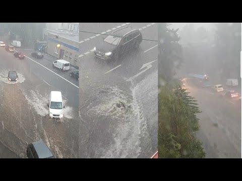 Ein Unfall & Regen und Hagel - in Wuppertal am 29.5.2018   Naji Tv