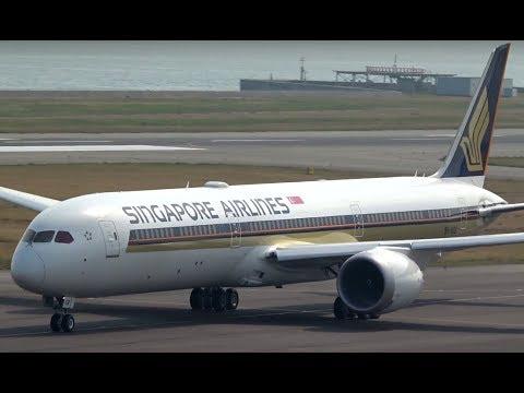 Brand new Singapore Airlines Boeing 787-10 at Osaka Kansai