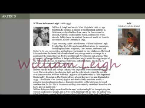 William Leigh | Ackerman's Fine Art