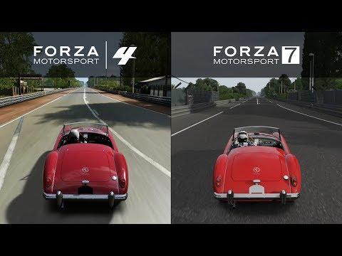 Forza 7 vs Forza 4 - 1958 MG MGA Twin-cam - Sound Comparison