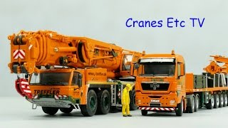 WSI Treffler Tadano ATF 400G-6 Crane & Goldhofer Ballast Carrier by Cranes Etc TV