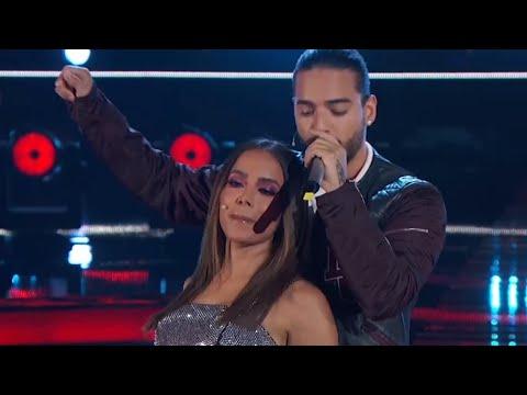 Maluma - Corazón ft Anitta  La Voz Mexico