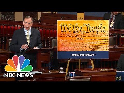 Senator Jeff Merkley Holds Overnight Talk-A-Thon Protesting Neil Gorsuch Nomination | NBC News
