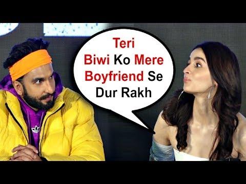 Alia Bhatt Takes A Dig Of Deepika Padukone Over Boyfriend Ranbir Kapoor In Front Of Ranveer Singh