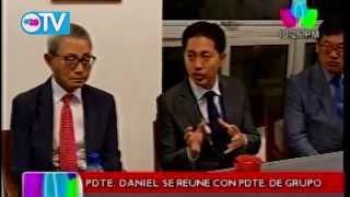 Presidente Daniel se reúne con Presidente del grupo SAE-A Technotex S.A.