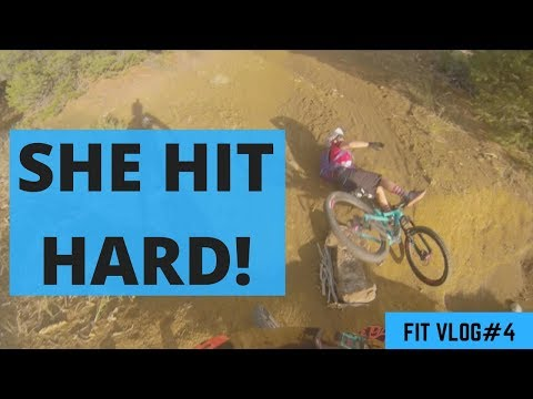 She Hit Hard!  - MTB Fail - MTB Crash - Fit Vlog #4