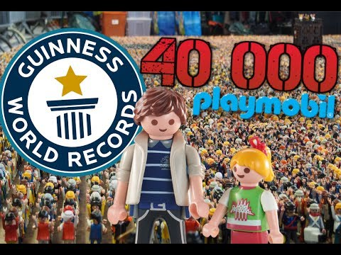 RECORD du MONDE 40 000 PLAYMOBIL - EXPOSITION FILM PLAYMOBIL (maison,pirate,chevalier,camping,ville)