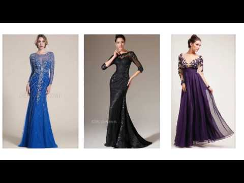 Top 100 Evening dresses with sleeves, long evening dresses f