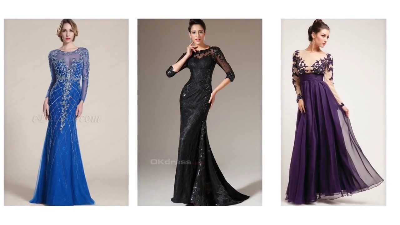 Top 100 Evening Dresses With Sleeves, Long Evening Dresses