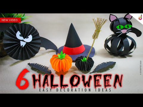 6 DIY Halloween Decoration Ideas | Paper Crafts Easy