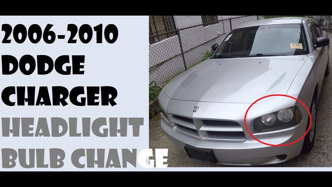 How To Change Headlight Bulbs In Dodge Charger 2006 2010 Youtube