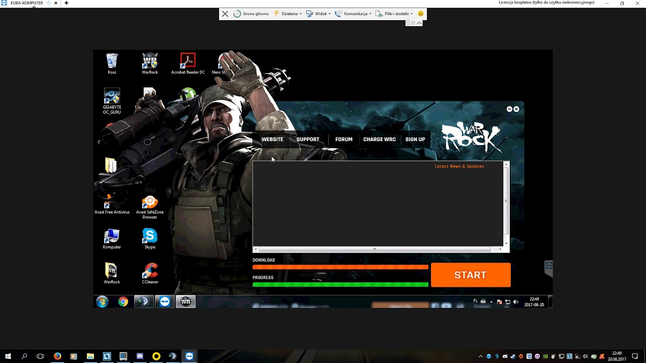 Warrock - Papaya play - problem with changing language on screen resolution  1366x768