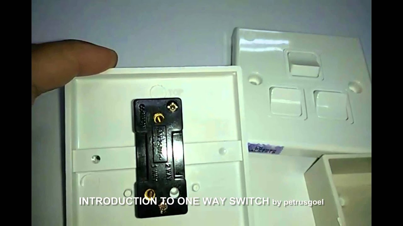INTRODUCTION TO ONE WAY SWITCH - YouTube