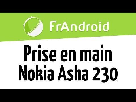 Prise en main du Nokia Asha 230 par FrAndroid