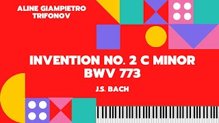 J.S. Bach's Invention No. 2 C minor BWV 773