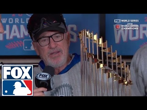 Chicago Cubs World Series trophy presentation | 2016 WORLD SERIES ON FOX