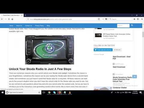 Skoda Radio Code Generator App For Unlocking Car Devices