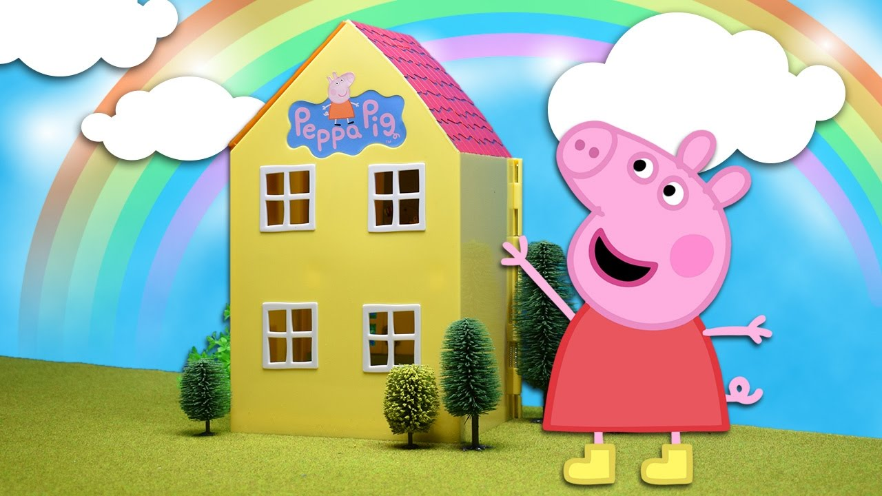 La Casa de Juguete de Peppa Pig HD Unboxing Casa Peppa Pig  YouTube