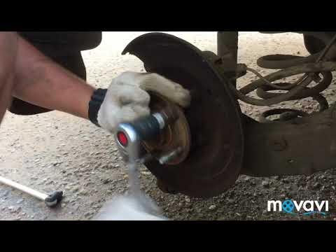 Замена задних тормозных дисков замена шпилек Шевроле Круз