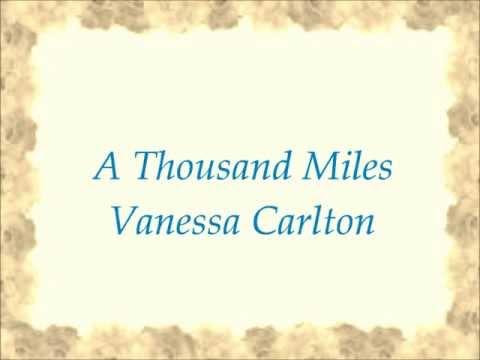 A Thousand Miles-Vanessa Carlton-Lyrics